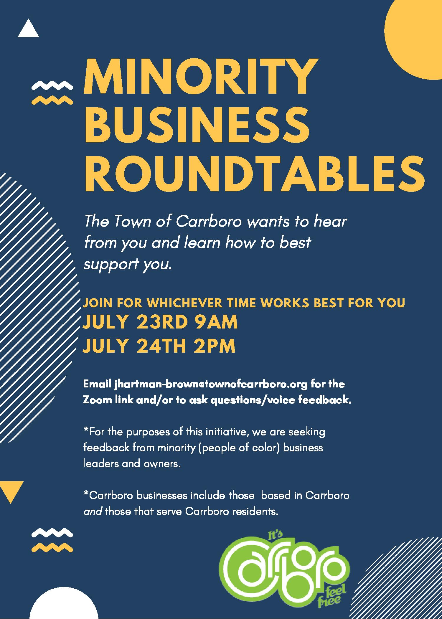 Minority Business Roundtables